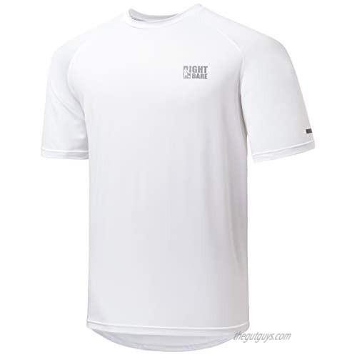 Lightbare Men Running Sports Shirts Short Sleeve Lightweight Quick Dry Anti Odor